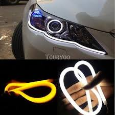 led light strip turn signal 2x car truck switchback drl led light strip tube amber sequential