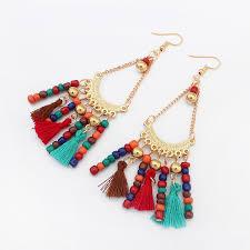dangle earring aliexpress buy hot indian style woolen tassels