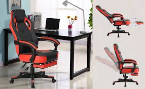 reclining gaming desk chair amazon com computer gaming chair high back racing chair with