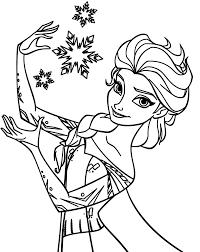 queen elsa frozen coloring pages coloring sky