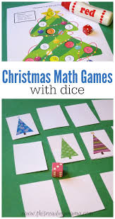 christmas math games with dice free