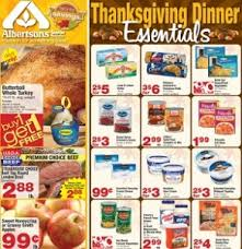 albertsons ad ends november 19 2013 thanksgiving dinner essentials