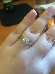 my wedding ring does my engagement ring look