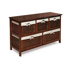amazon com badger basket five basket storage unit with wicker