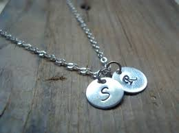 personalized charm necklaces silver small personalized initial charm necklace sterling silver