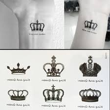 1pcs small crown pattern temporary stickers waterproof