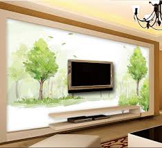 online get cheap livingroom wallpaper for walls 3d forest