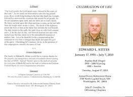 program for a memorial service template memorial service program template