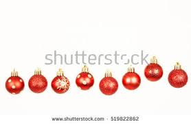 Red Glitter Christmas Decorations by Christmas Decoration Isolated Stock Images Royalty Free Images