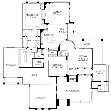 Courtyard Style House Plans by Mediterranean Style House Plan 4 Beds 4 50 Baths 4220 Sq Ft Plan