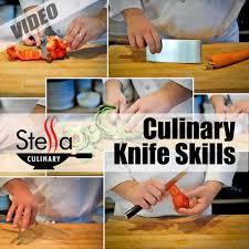 cuisine techniques culinary knife skills stella culinary