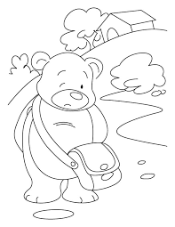 hearted bear coloring pages download free hearted bear