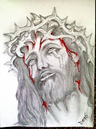 bleeding jesus head portrait tattoo design photos pictures and