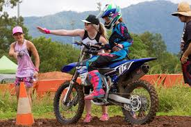 australian freestyle motocross riders ashley fiolek inspires young riders in cairns
