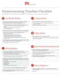 perfect timing who knew there was a house warming party checklist