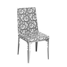 floral gray white upholstered dining room chairs with metal legs