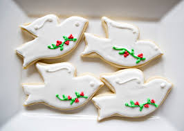 christmas dove cookies baked bree