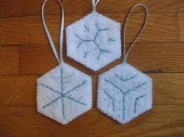 snowflake felt ornament set ornament handmade felt