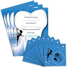tooth fairy gift fairy gift set 8 envelopes 4 certificates