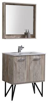 Bosco  Modern Bathroom Vanity With Quartz Countertop And - Bathroom vanities with quartz countertops