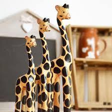 2018 giraffes wooden ornaments giraffes crafts sets yellow
