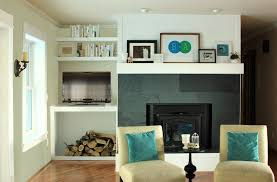 Nook Room Family Room Nook With Small Tv And Shelves