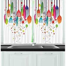 Bright Colorful Kitchen Curtains Inspiration Bright Colorful Kitchen Curtains Koffiekitten