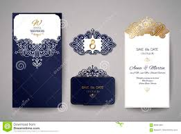 Wedding Invitation Greeting Cards Wedding Invitation Or Greeting Card With Gold Floral Ornament