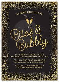 new year invitation new year s or party invitations golden confetti bites
