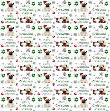 pug wrapping paper pug christmas wrapping paper by starprint ebay
