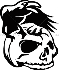 pumpkin stencil skull crow pumpkin skull production ready artwork for t shirt printing