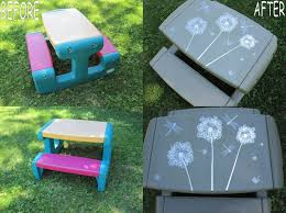 Best Spray Paint For Plastic Chairs Best 25 Little Tikes Picnic Table Ideas On Pinterest Little