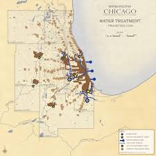 Map Metro Chicago by Metropolitan Chicago Water