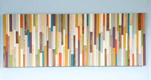 mid century wall reclaimed wood sculpture painted wood