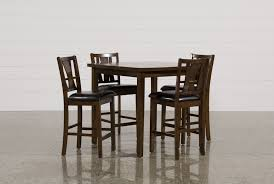 Living Spaces Dining Room Madden 5 Piece Counter Set Living Spaces