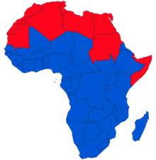 africa map real size sub saharan africa