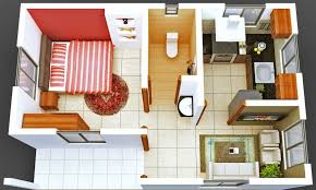 Color Floor Plan 2d Color Floor Plans Furnished Home Furniture
