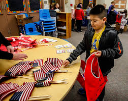 American Flag Bed In A Bag Nearby Third Graders Send A Valentine To A Nursing Home