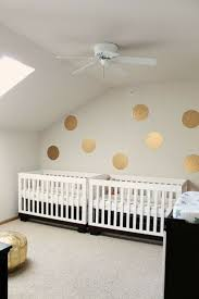 Convertible Crib To Twin Bed by Shannonigans The Twins U0027 Nursery With Gold Circle Decals And Twin
