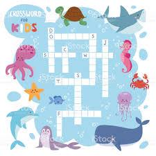 kids magazine book puzzle game of sea underwater ocean fish and