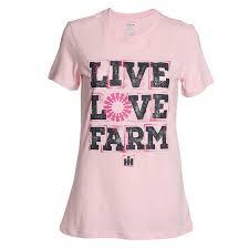 case ih home decor live love farm stamp ladies short sleeve tee shop case ih