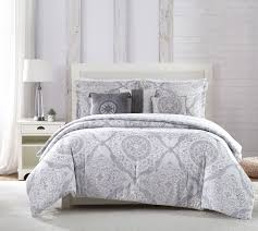 Blue And White Comforter Piece Delia Gray White Blue Comforter Set