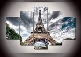 Eiffel Tower Garden Decor Framed Printed Eiffel Tower Landscape Group Painting Children U0027s