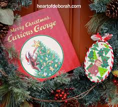 mixed media collage curious george kid made ornament