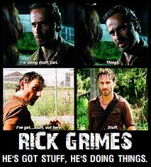Stuff And Things Meme - rick grimes things and stuff meme the walking dead amuse