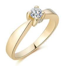 pierscionek zareczynowy złoty pierścionek zaręczynowy z diamentem 0 15ct