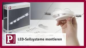 Wohnzimmer Lampe Drahtseil Led Seilsystem U2013 Flexibel Spannen Und Einfach Befestigen Youtube