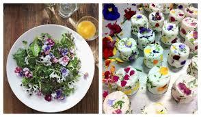 les fleurs comestibles en cuisine parsemez votre repas de mariage de fleurs comestibles