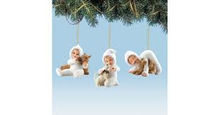 snowbabies ornaments 4 3 cool cuties bradford exchange