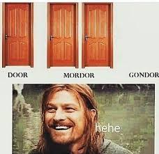Door Meme - love it lordoftherings thehobbit lotr gondor boromir door